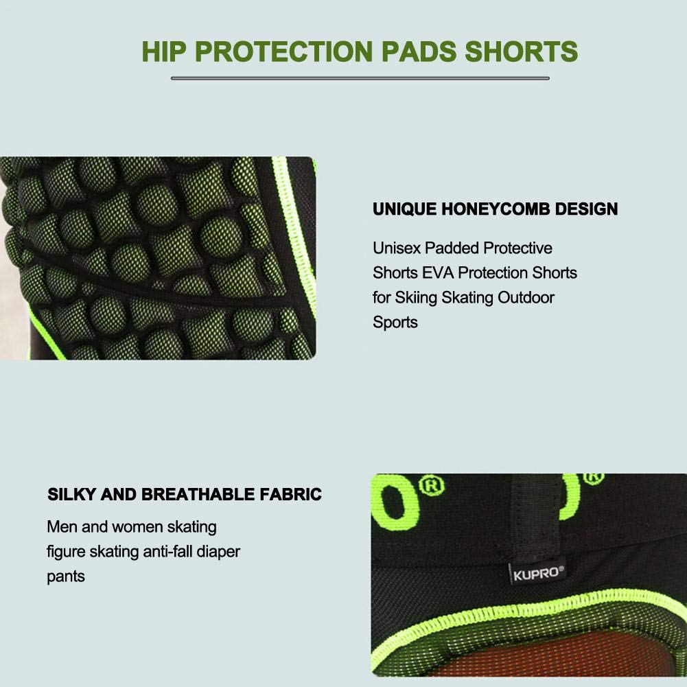 Short de Protection Hip Pad Pantalon de Protection Cyclisme pour Patinage Snowboard Skating Ski Roller V/élo VTT Moto Descente Handball Rugby