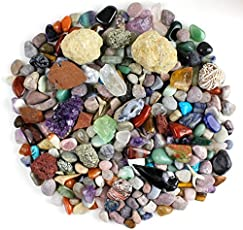 Dancing Bear Rock & Mineral Collection Activity Kit (Over 150 Pcs), Educational Identification Sheet plus 2 Easy Break Geodes, Fossilized Shark Teeth and Arrowheads, Brand