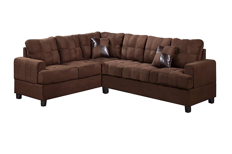 Leonardo Leather Large Recliner Sofa Chocolate Wallpaperall