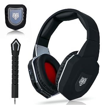 WASUNNY Auriculares inalámbricos para Juegos DE 2,4 GHz para Xbox One/Xbox 360