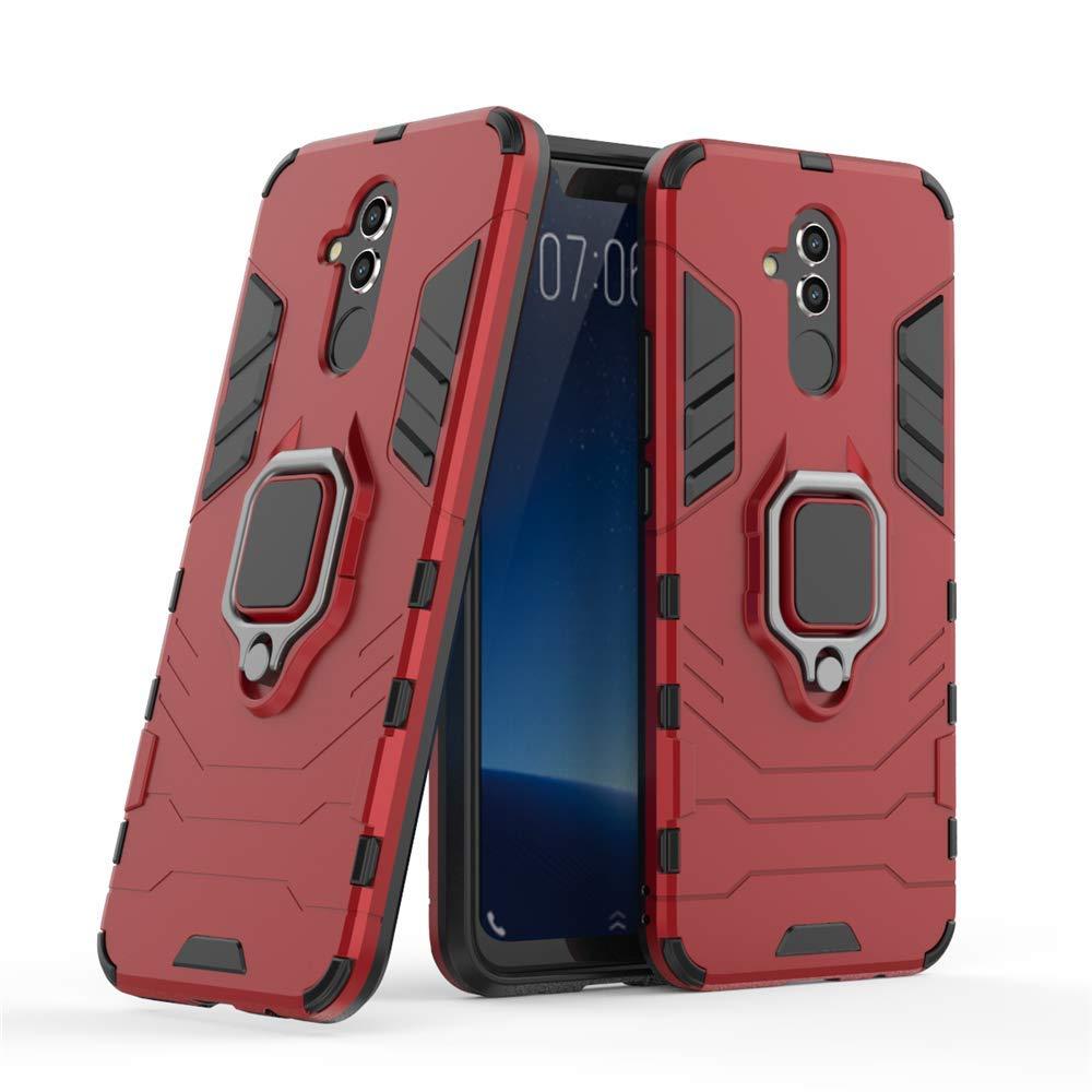 Huawei Mate 20 Lite Funda, MHHQ 2in1 Armadura Combinación A Prueba de Choques Heavy Duty Escudo Cáscara Dura PC + TPU Silicona con Soporte Magnetic ...