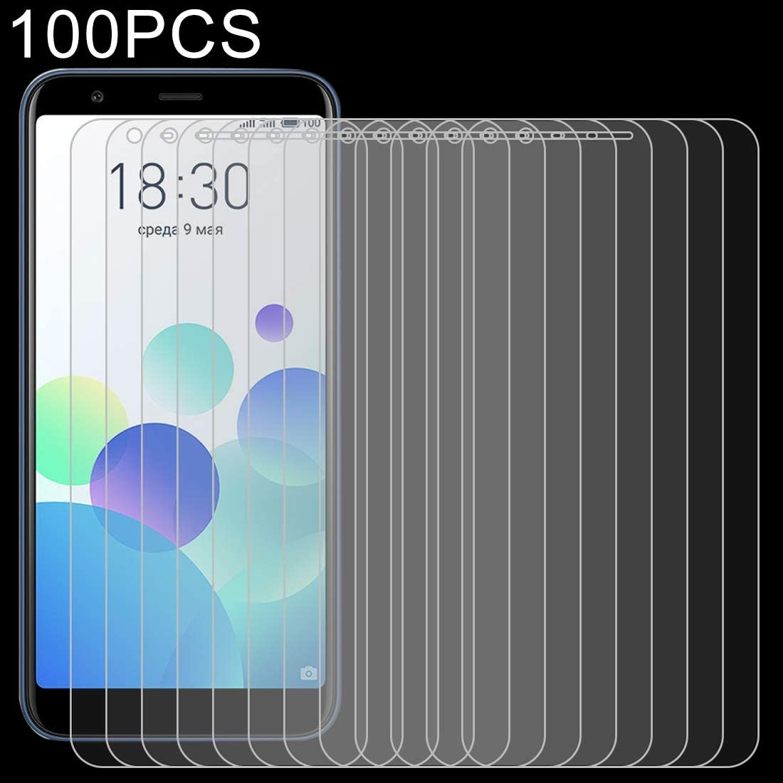 DESHENG Clear Screen Protector 100 PCS 0.26mm 9H 2.5D Explosion-Proof Tempered Glass Film for Meizu M8c Glass Film