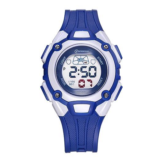 Impermeable reloj deportivo/Hora reloj digital/ reloj digital chicas-B: Amazon.es: Relojes