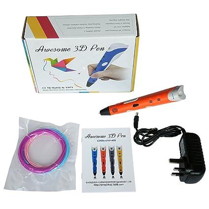 teckey® 3d impresora 3d Pen lápiz para Libre Mano 3d dibujos + 2 ...
