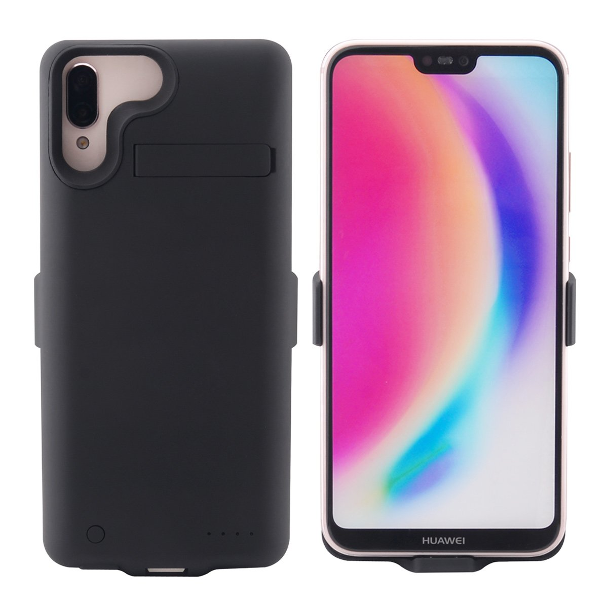 AICEDA Huawei Nova 3i Rechargeable Battery Case Charger Cover, Shake Dust Dirt Proof Case Compatible with Huawei Nova 3i - Black