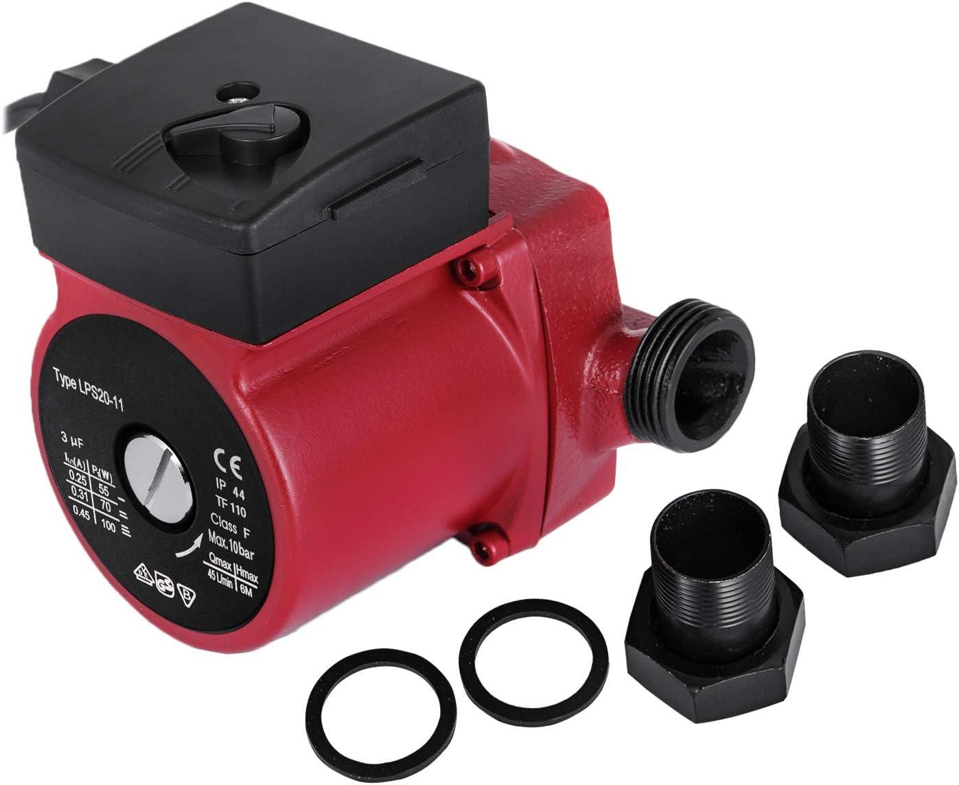 Husuper Bomba de Agua de 220V / 50Hz Bomba Elevadora de Presión de Agua Bomba Sumergible para Pozo de Piscina de Fuente de Acuario de Jardín(LPS20-11-40/60 / 75w)
