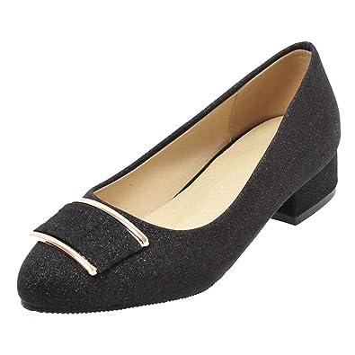 efbca8c7b3214f AIYOUMEI Glitzer Pumps Damen Chunky Heels Pumps mit 3cm Absatz Bequem Schuhe
