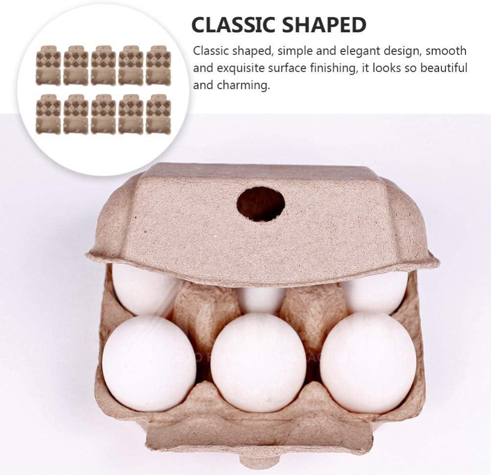 Cabilock 10 St/ücke Pappe Eierkartons Eierbeh/älter Eierhalter Eierbox Wachteleierschachteln Eier Beh/älter Wachtelei Karton Biologische Abbaubare Eierschachtel f/ür 6 Eier Wachtel Fasan Auerhahn