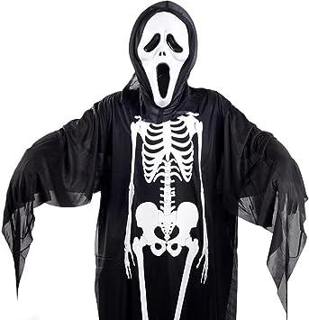 colore nero guanti lunghi con motivi luminosi per costume di Halloween 4 paia di calze da scheletro per Halloween