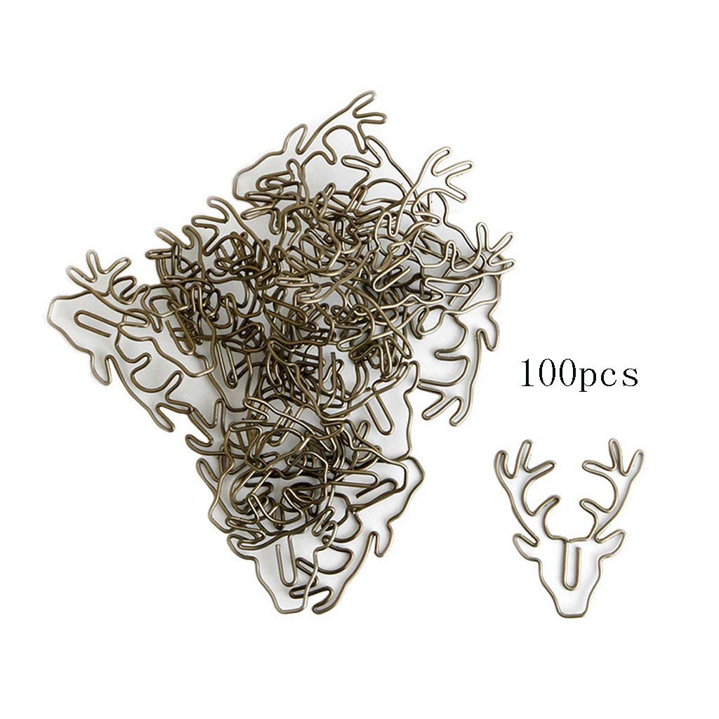 BAYUESHOP Paper Clip Holders Hardware Paper Clips Bookmark Paper Clips Page Clips Metal Paper Clips 100pcs by BAYUESHOP//Office Products