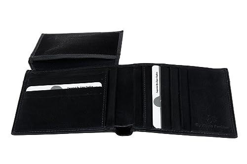 ZIPPO FASHION Cartera hombre azul noche en piel porta tarjetas de credito A4396: Amazon.es: Zapatos y complementos