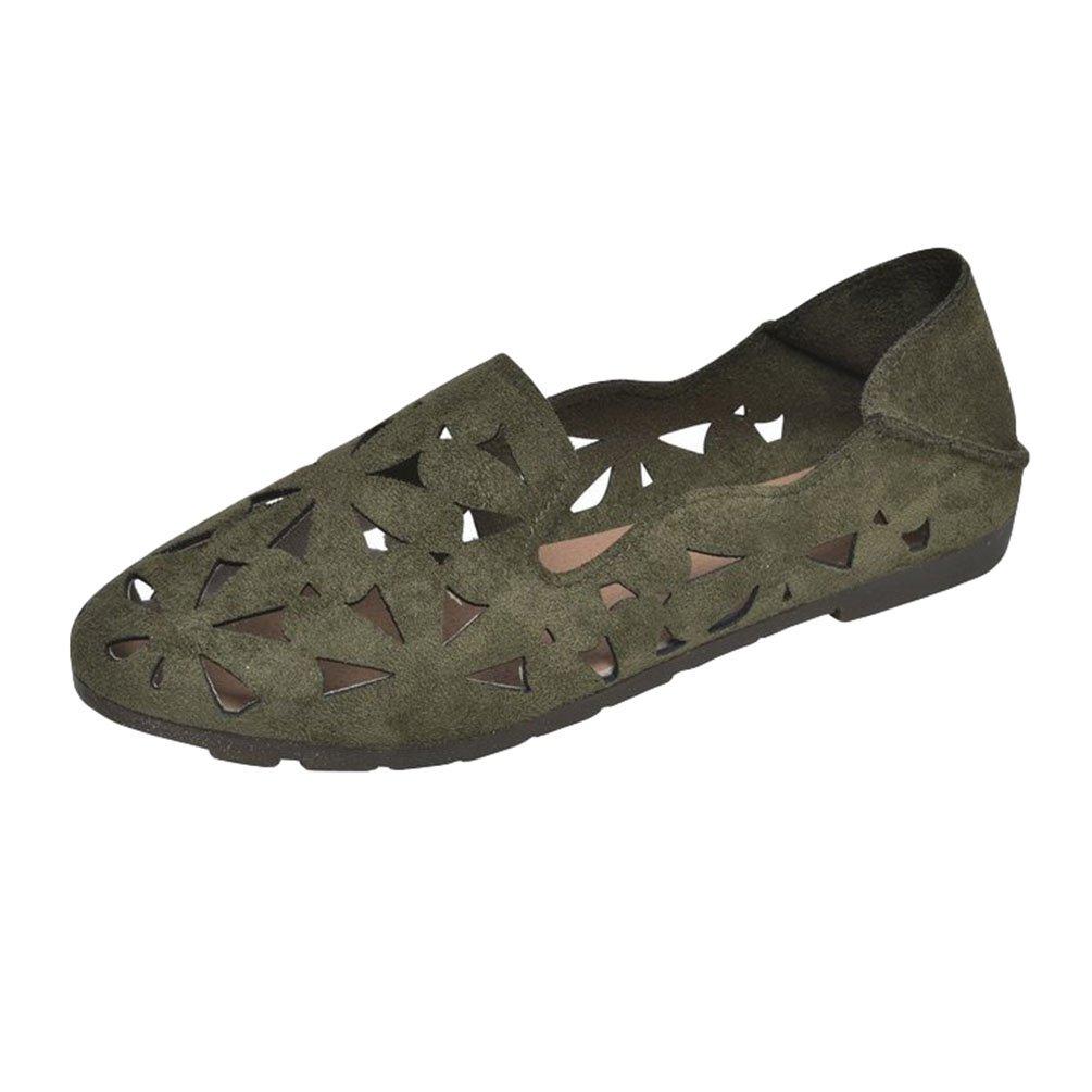 Anguang Femmes Confort Anguang Chaussure Plat Mocassins Slippers Chaussure Vert#1 Conduite Slip on Loafers Vert#1 f55d5e7 - reprogrammed.space