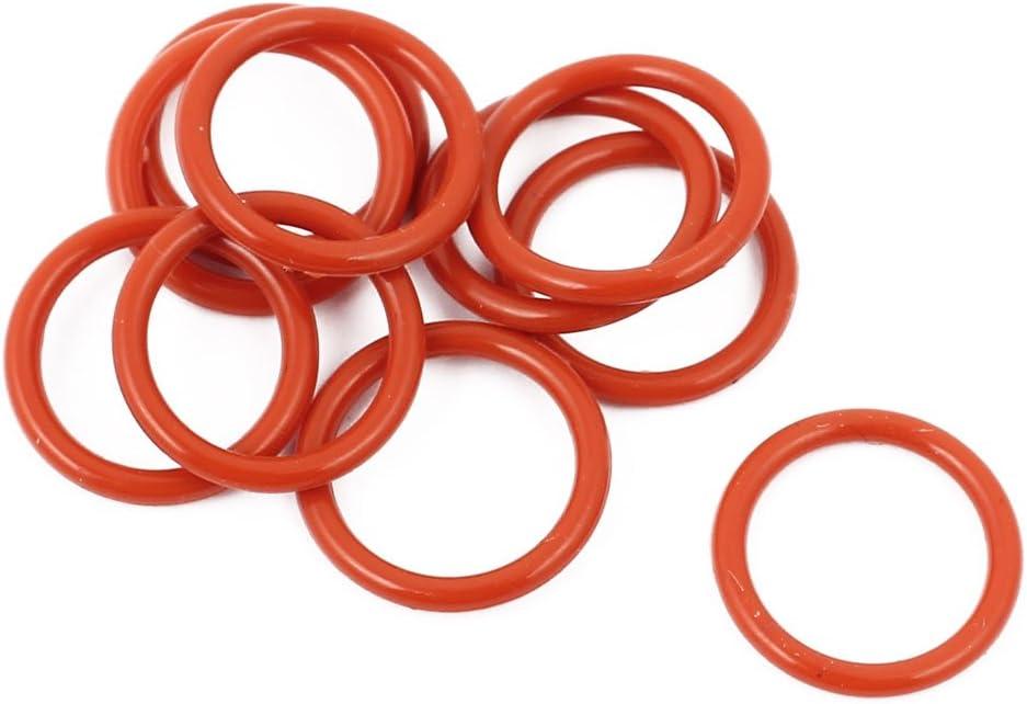 Sourcingmap 10stk Rot 13mm X 1 5mm Silikon Gummi Dichtung O Ring Abdichtung Hitzebeständig De Baumarkt