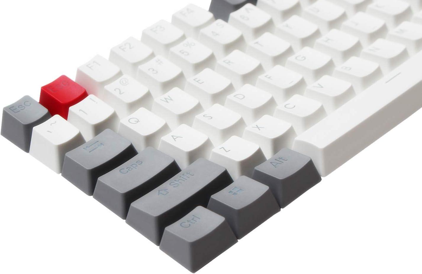 PBT Pudding Keycaps Set with Keycaps Holder Backlit Doubleshot Cherry MX Key Caps ANSI ISO Layout OEM Profile Top Print for 60/% Black Combo 87 TKL// 104//108 MX Switches Mechanical Gaming Keyboard