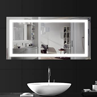 lebright miroir salle bain 100x60cm 23w lampe miroir salle de bain led miroir led lampe
