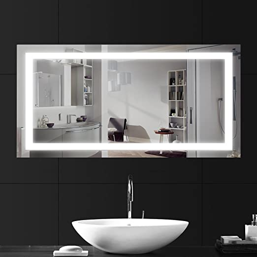led bathroom mirror lighting. LEBRIGHT Bathroom Mirrors 23W 100*60cm, LED Mirror Light With Switch, Silver Led Lighting G