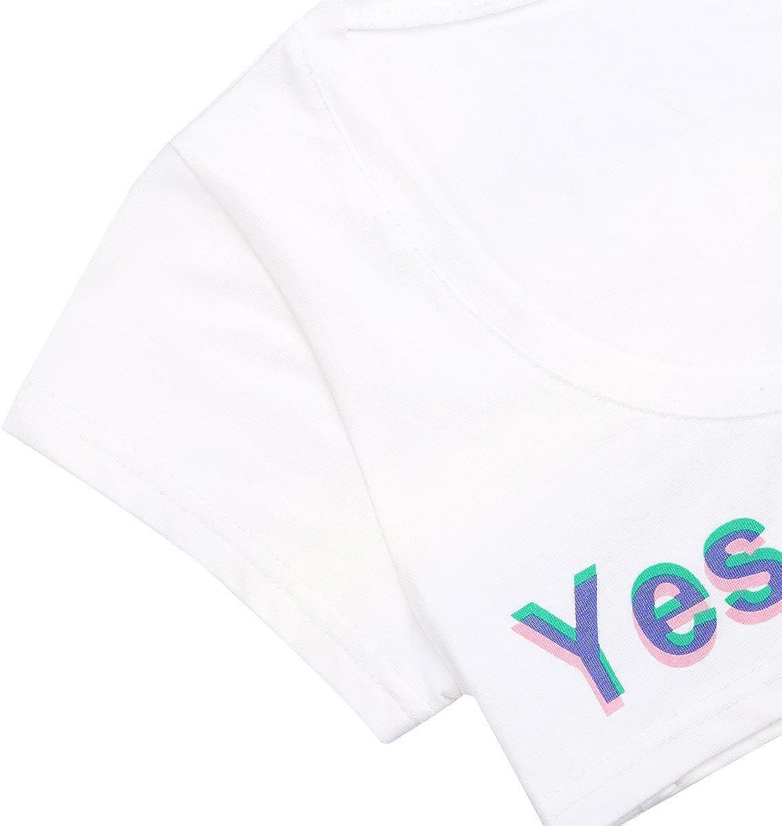 dPois Haut de Danse Femme Fille Soutien-Gorge Sport Push Up Sleeveless Tank Crop Tops Yes Daddy Coton T-Shirts Blouse Nuisette D/éshabille D/ébardeur Brassi/ère Gymnastique