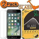 [2-Pack] Jasinber Mica de Vidrio Cristal Templado para iPhone 7