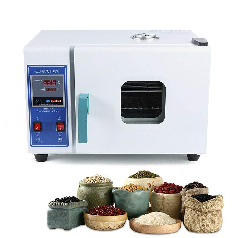 16L Electric Heating Constant Temperature Blast Drying Oven 110V,16L Digital Thermostatic Electric Incubator Box Drying Microbial Fermented Lab Constant-Temp. with Removable Shelf Electrothermal Const