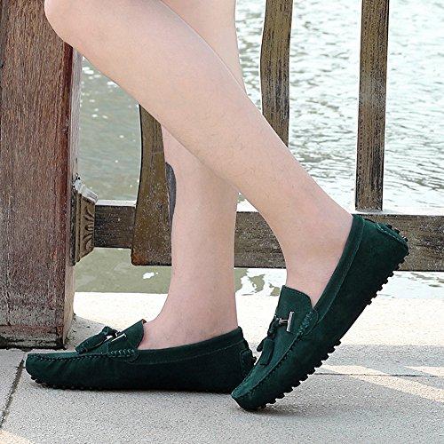 Rismart Hommes Élégant Gland En Daim Mocassins Appartements Confort Conduite Bateau Chaussures Vert 2080 Us8.5