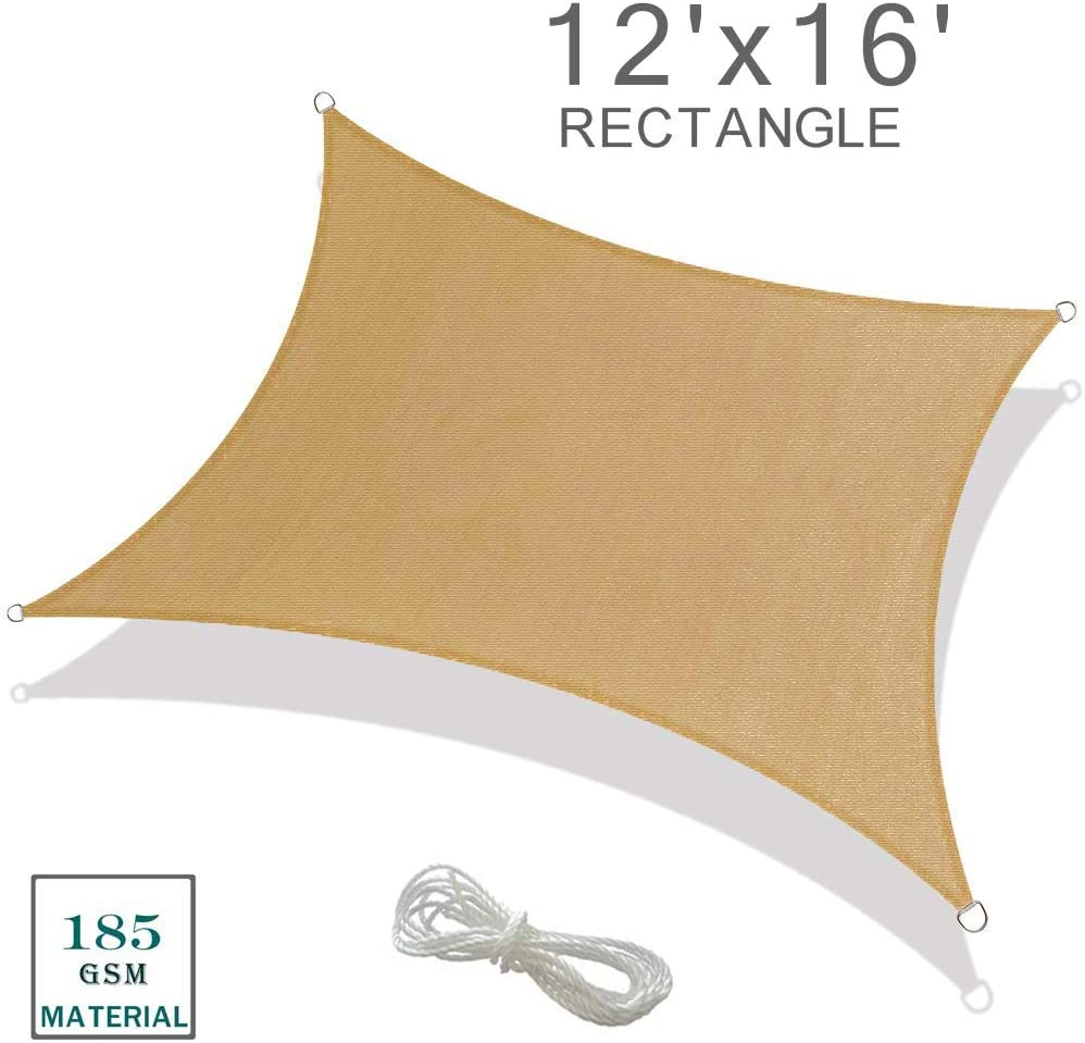 Ihoming Shade Sail Hardware Kit 6 inch for Rectangle Sun Shade Sail 304 Anti-Rust Stainless Steel Sun Shade Sail Kit Rectangle