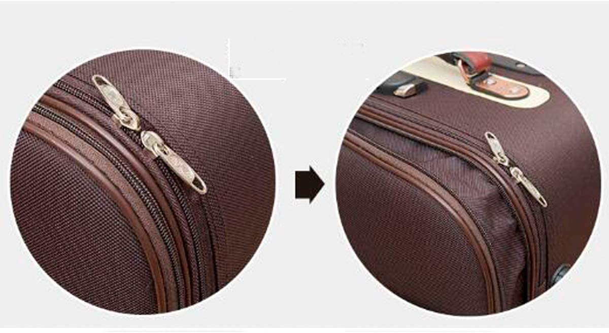 Haoyushangmao Carry Suitcase Simple and Purple The Latest Style Rotating Suitcase 20//24//28 Inches Color : Black, Size : 28 Simple Soft Case