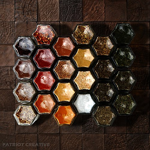 Hexagon Jars Gold Lid (30pcs 4.0 oz) Hexagon Glass Jars with 30pcs Gold Plastisol Lined Lids for Jam Honey Jelly Wedding Favors Baby Shower Favors Baby Food DIY Magnetic Spice Jars Crafts Canning Jars by PATRIOT CREATIVE (Image #5)