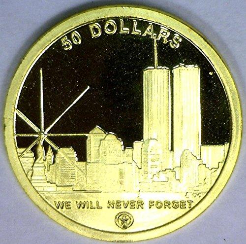 2004 No Mintmark Northern Marianas Islands World Trade Center/Freedom Tower $50 Gem Proof