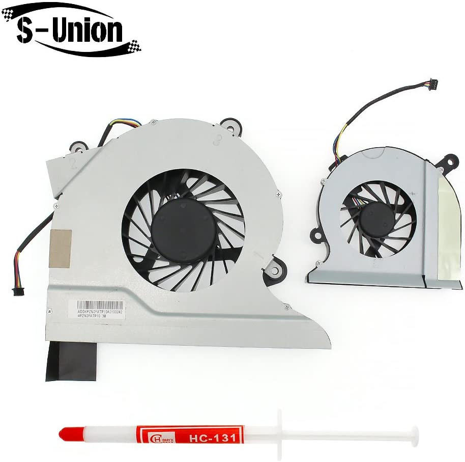 S-Union New Replacement CPU Cooling Twin Fan for HP All-in-One 200 Omni 200 Series Laptop Small Fan Part Number: AB7205HX-GC1 Large Fan Part Number: B1512HX-AEB (with Thermal Grease)