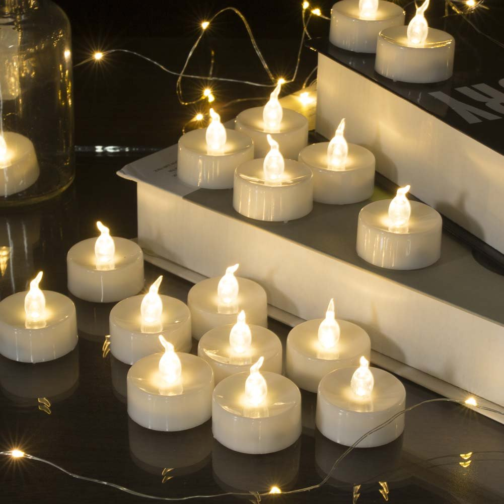 Beichi 100 Pack Flameless LED Tea Light Candles, Battery Operated Votive Tealight Little Candles with Warm White Flickering Buld Lights, Small Electric Fake Tea Candles for Holiday, Wedding, Party by Beichi (Image #5)