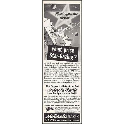 Amazon com: RelicPaper 1943 Motorola Radio: Star-Gazing, Motorola