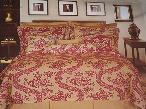 Bordeaux Comforter Set - ROSE TREE BORDEAUX QUEEN COMFORTER SET Floral Pattern W/ Bedskirt & Shams