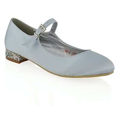ESSEX GLAM Scarpa Donna Ballerina Bianco Glitter Fiocco Festa EU 37 Mejor Precio Al Por Mayor Barata G4VIGiW0