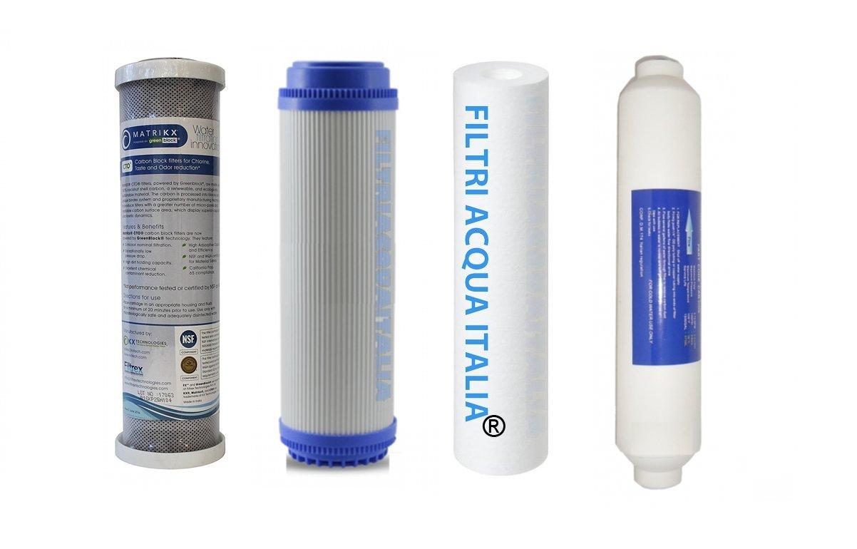 Juego 4 filtros para purificador agua ósmosis inversa ...