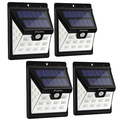 【4 Piezas】 Zanflare 22 LED Lámpara solar de jardín, Lámpara de energía solar