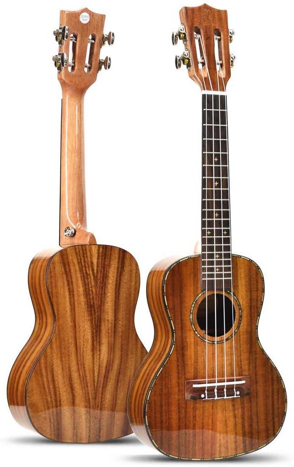 Guitarra de cuatro cuerdas, instrumento musical, pintura brillante ...