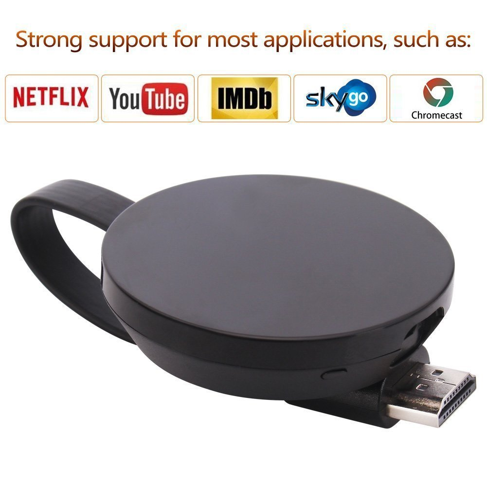 [CE ROSH Certificated] WIFI Display Dongle, ATETION 2018 WiFi Wireless 1080P Mini Display Receiver HDMI TV Miracast DLNA Airplay for IOS/Android/Mac