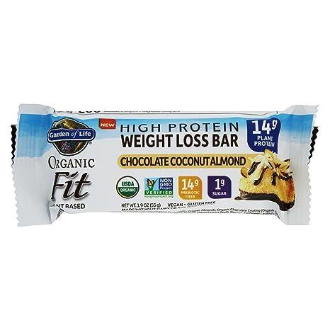 Garden of Life - Organic Fit alta proteína pérdida de peso barra chocolate coco almendra -