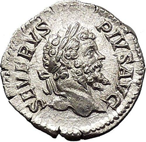 Septimius Severus Coins - 202 IT SEPTIMIUS SEVERUS 202AD AR Ancient Roman Coin Vic coin Good