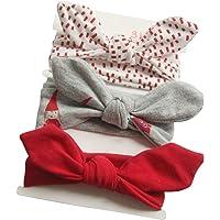3955a6fcd83f03 COUXILY 3 Stück Baby Mädchen Stirnband Baumwolle Haarband mit Bogen für  0-24 Monaten