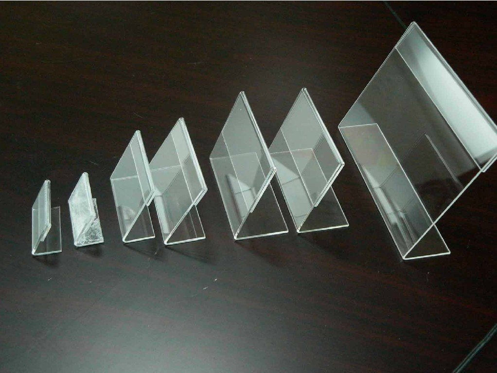 50pieces/lot Clear Acrylic Price Tag Advertisement Display Stand Holder (6*9cm)