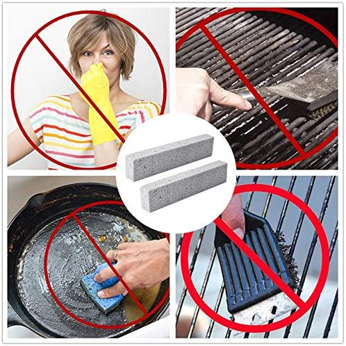 ZFYM Briques Nettoyage Barbecue Poêle Nettoyage Pierre Ustensiles de Cuisine Grill Teintes Outils Grease Nettoyage