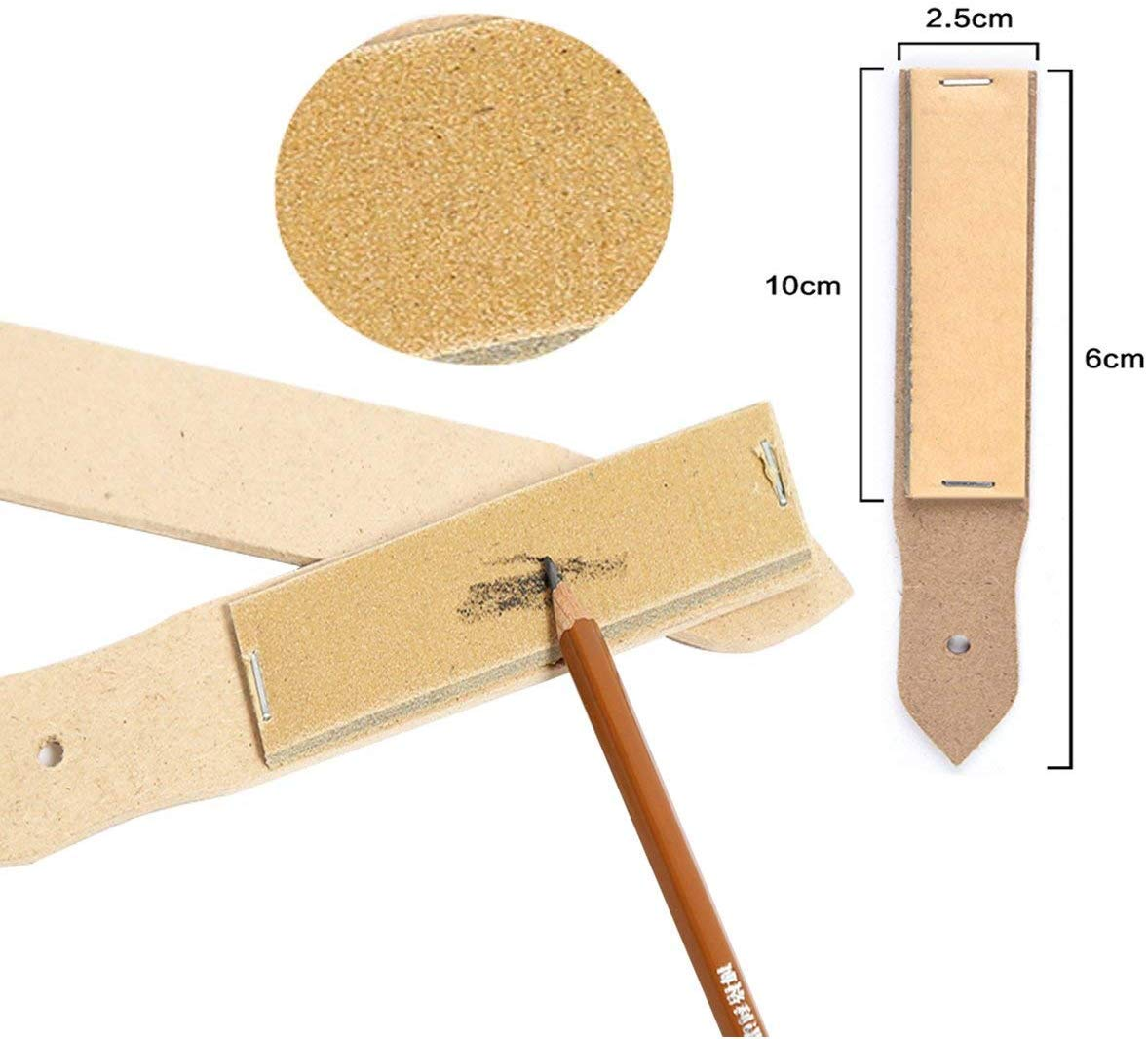 22 Pcs Blending Stumps and Tortillions Set with 2 Pcs Sandpaper Pencil Sharpener and 1 Pencil Extension Tool Art Drawing Tools for Student Sketch Drawing Accessories