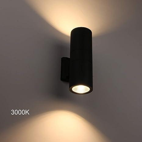 2er Set LED Wand Leuchten Außen Beleuchtungen Up/&Down Strahler Badezimmer Lampen