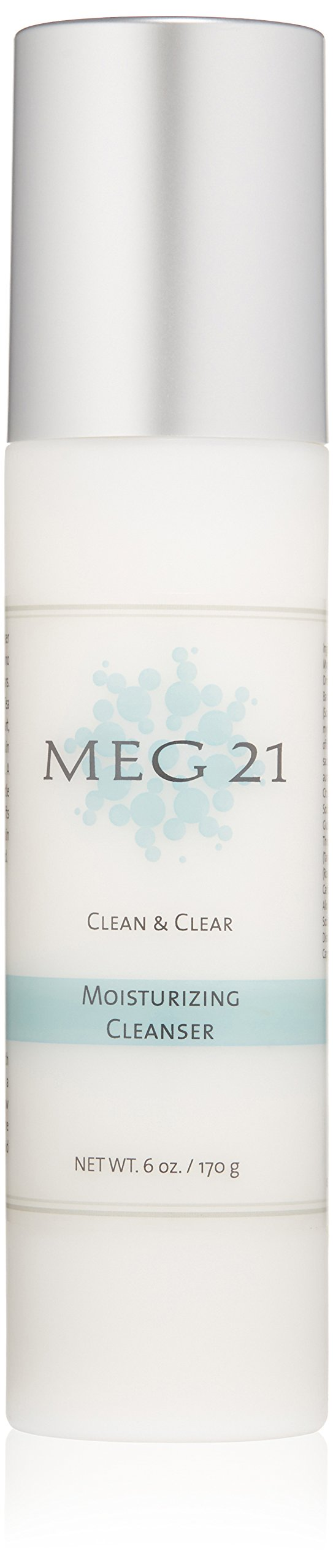 MEG 21 Clean and Clear Moisturizing Cleanser Cream, 6 Oz