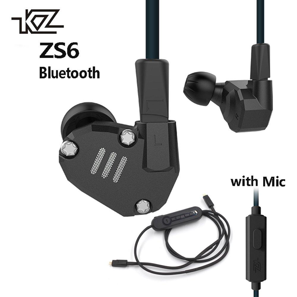 (税込) KZ zs6 2dd + 2ba KZ B075GCHL8N BluetoothワイヤレスイヤホンHIFIモニターDJハイブリッドDetachイヤホンノイズキャンセルスポーツヘッドセットマイク付き 2ba B075GCHL8N, 甘栗太郎:c7017e42 --- efichas.com.br