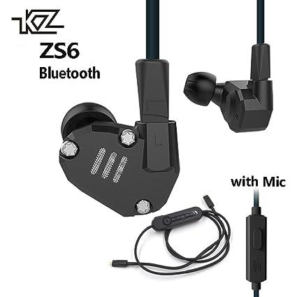 18408050633 Amazon.com: KZ ZS6 2DD+2BA Bluetooth Wireless Earphones HIFI Monitor ...