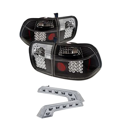 Amazon Com Honda Civic 4dr Led Tail Lights Black Housing With Clear