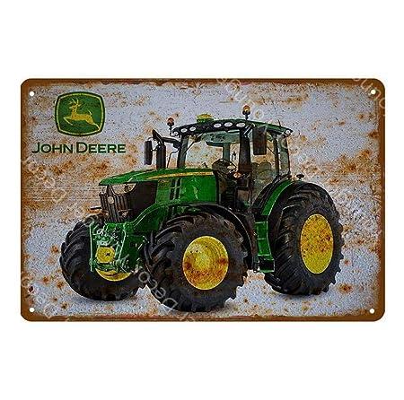 shovv Cartel de Chapa metálica Vintage John Deere Cartel ...