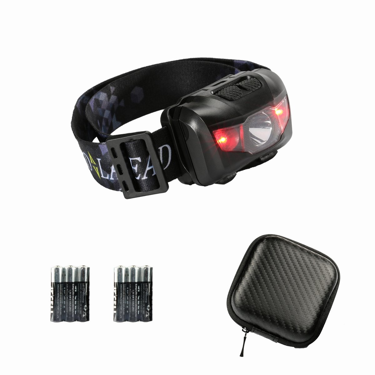 Lightweight Led Headlamp Head Torch Flashlight With 6 Exciting Scout Crafts 1 Or 2 Aaa Batteries Red Flash Lights Portable And Hard Case Adjustable Lighting Beam